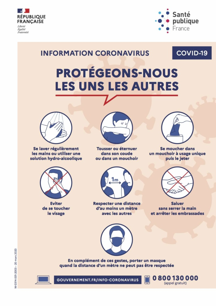 affiche information coronavirus